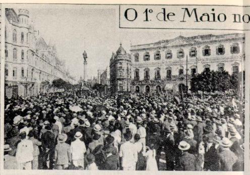 1 de maio no Rio de janeiro em 1919.