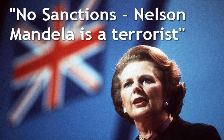 """""""sanções à África do Sul: Nelson Mandela é um terrorista"""""""