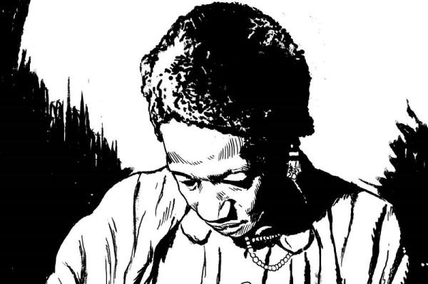 """""""Carolina"""", por João Pinheiro, extraído da HQ sobre a escritora, realizado junto com Sirlene Barbosa"""